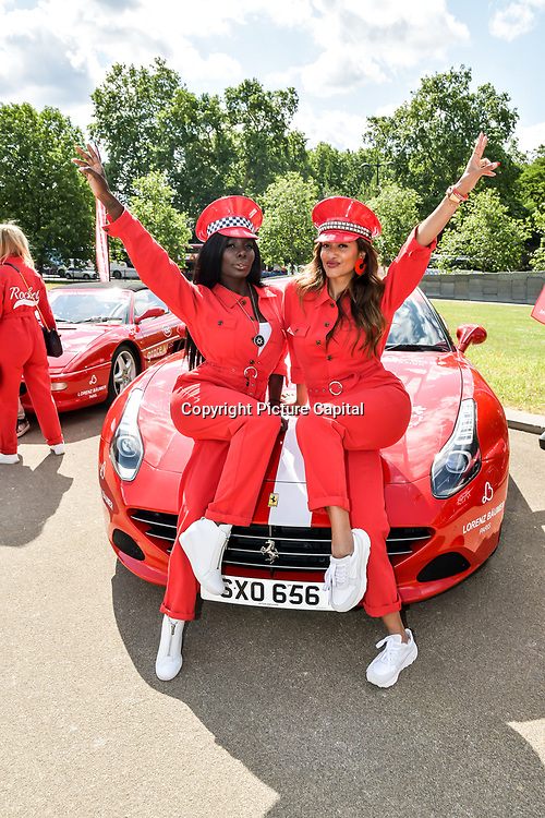 Charrlotte De'Davis, Saselines, attend Cash & Rocket Photocall at Wellington Arch, on 6 June 2019, London, UK