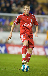 WARRINGTON, ENGLAND - Tuesday, February 26, 2008: Liverpool's Martin Skrtel in action against Manchester United during the FA Premiership Reserves League (Northern Division) match at the Halliwell Jones Stadium. (Photo by David Rawcliffe/Propaganda)
