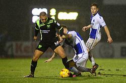 James Clarke of Bristol Rovers challenges James Vaughan of Bury - Mandatory by-line: Dougie Allward/JMP - 10/12/2016 - FOOTBALL - Memorial Stadium - Bristol, England - Bristol Rovers v Bury - Sky Bet League One