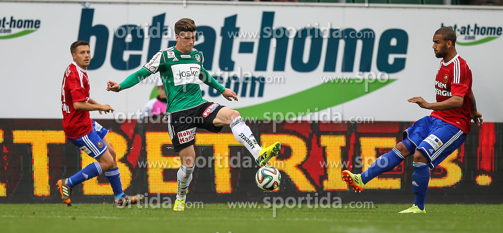 11.05.2014, Keine Sorgen Arena, Ried im Innkreis, AUT, 1. FBL, SV Josko Ried vs SK Rapid Wien, 36. Runde, im Bild Terrence Boyd, (SK Rapid Wien, #9) und Julius Perstaller, (SV Josko Ried, #9) // during Austrian Football Bundesliga Match, 36th round, between SV Josko Ried and SK Rapid Wien at the Keine Sorgen Arena, Ried im Innkreis, Austria on 2014/05/11. EXPA Pictures © 2014, PhotoCredit: EXPA/ Roland Hackl