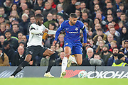 Derby County defender Fikayo Tomori (5) and Chelsea midfielder Ruben Loftus-Cheek (12) during the EFL Cup 4th round match between Chelsea and Derby County at Stamford Bridge, London, England on 31 October 2018.