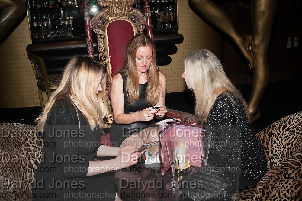 KATIE GLEN; KAREN JONES; VALERIE AUSTIN,   My Left Boob: A Cancer Diary by Sally Farmiloe-Neville , Sally Farmiloe - book launch party, Angels, 201 Wardour Street, London, W1F 8ZH