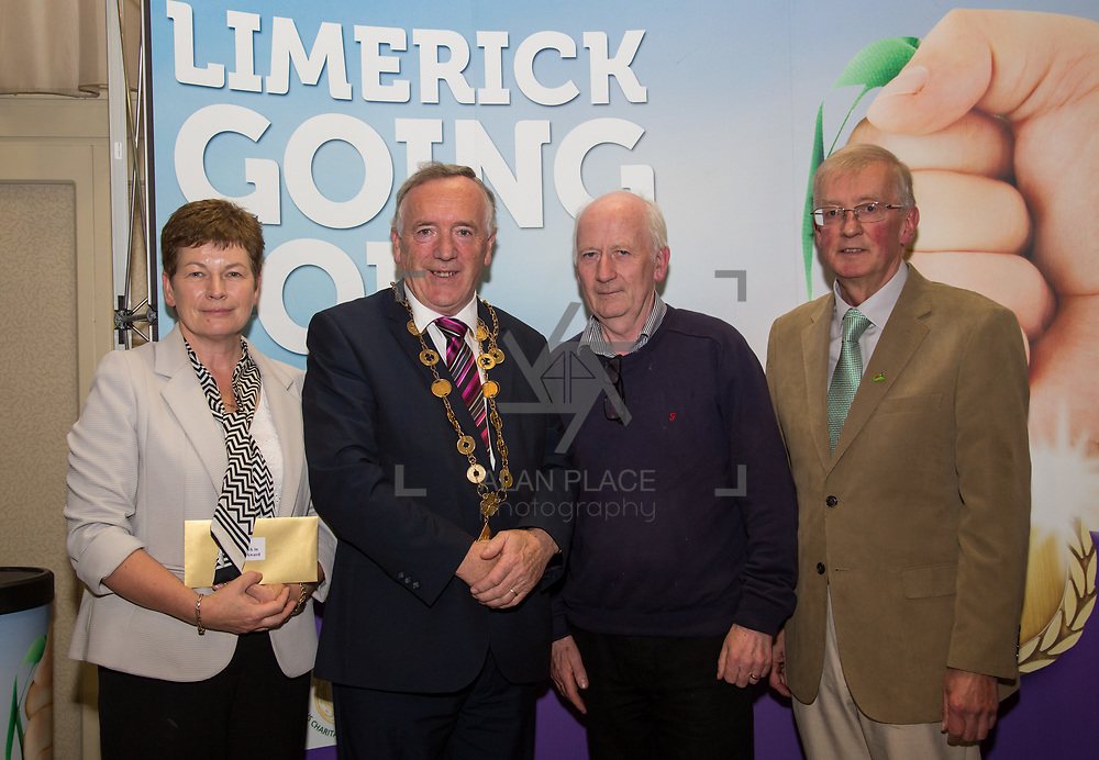 10.10. 2017. <br /> Mayor of the City and County of Limerick Cllr Stephen Keary and Noel Earlie, JP McManus Charitable Foundation presented  the Going for Gold 2017 Limerick in Bloom third place (€2,000) to Croagh accepted by Dermot Guiltinan and Margaret Buckley.                     <br /> <br /> Limerick Going for Gold, which is sponsored by the JP McManus Charitable Foundation, has a total prize pool of over €75,000.  It is organised by Limerick City and County Council and supported by Limerick's Live 95FM, The Limerick Leader and The Limerick Chronicle, The Limerick Post, Parkway Shopping Centre, I Love Limerick and Southern Marketing Media & Design. Picture: Alan Place