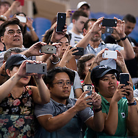 Fans after the 2018 Australian Open on day 14 at Rod Laver Arena in Melbourne, Australia on Sunday afternoon January 28, 2018.<br /> (Ben Solomon/Tennis Australia)