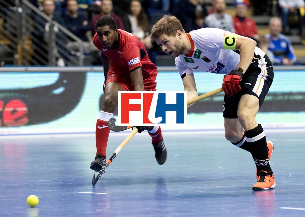 BERLIN - Indoor Hockey World Cup<br /> Men: Germany -  Trinidad &amp; Tobago<br /> foto: Martin H&auml;ner.<br /> WORLDSPORTPICS COPYRIGHT FRANK UIJLENBROEK