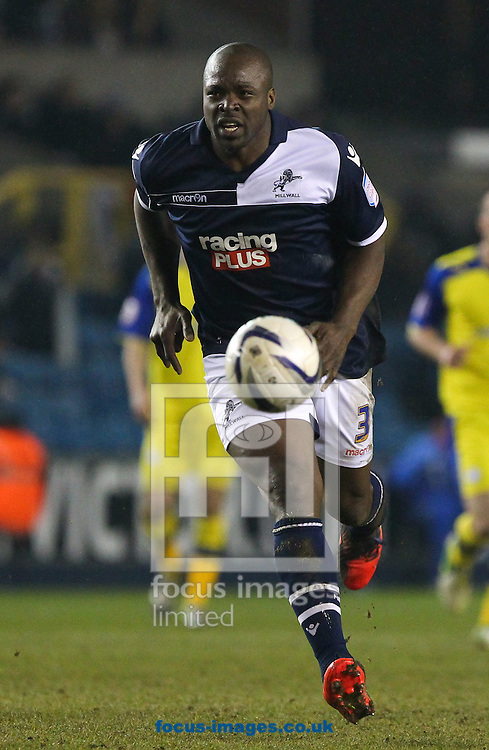 Picture by John Rainford/Focus Images Ltd +44 7506 538356.09/04/2013.Danny Shittu of Millwall during the npower Championship match at The Den, London.