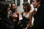 HALA, DANIELA ISSA, SARAH MORRIS AND CHRISTOPHER TAYLOR. Meeting of Minds in aid of the Parkinson's Appeal for Deep Brain Stimulation at Christie's. Party afterwards at St. John restaurant. 16 October 2007.  -DO NOT ARCHIVE-© Copyright Photograph by Dafydd Jones. 248 Clapham Rd. London SW9 0PZ. Tel 0207 820 0771. www.dafjones.com.