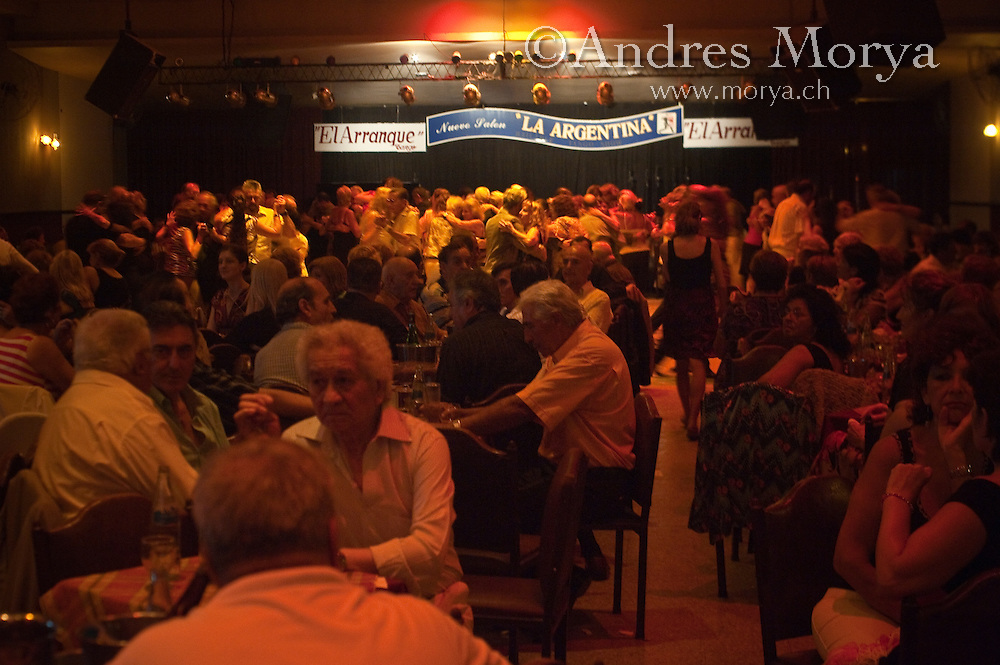 Tango Dancers in the Milonga El Arranque, Buenos Aires, Argentina Image by Andres Morya
