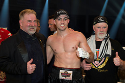 12.03.2016, Jahnsportforum, Neubrandenburg, GER, Boxgala, WBA Weltmeisterschaftskampf, im Bild Mitte Eduard Gutknecht // during the WBA Light Heavyweight World Championship Boxgala at the Jahnsportforum in Neubrandenburg, Germany on 2016/03/12. EXPA Pictures © 2016, PhotoCredit: EXPA/ Eibner-Pressefoto/ Koch<br /> <br /> *****ATTENTION - OUT of GER*****