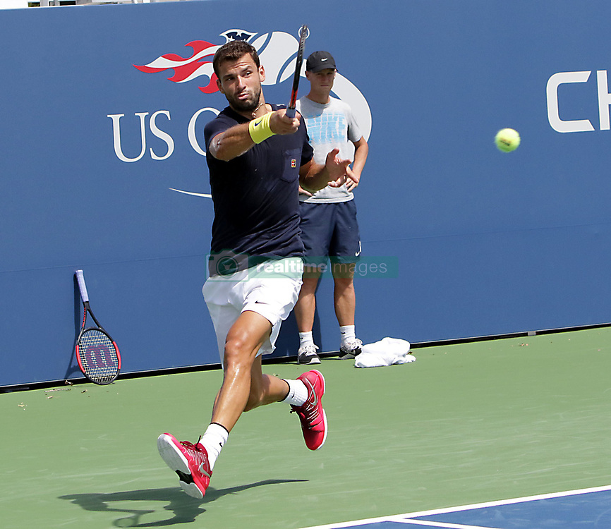 August 23, 2017 - New York, United States - Bulgarian player Grigor Dimitrov pictured during a practice session at the US OPEN 2017 (Credit Image: © Panoramic via ZUMA Press)