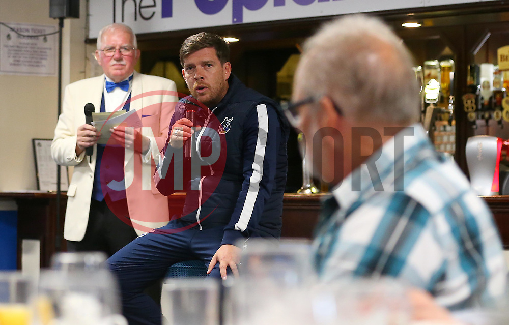 Bristol Rovers manager Darrell Clarke takes part in a Q&A at the Blue Diamond Club Lunch in the Poplar Insulation Suite at The Memorial Stadium - Mandatory by-line: Robbie Stephenson/JMP - 21/09/2017 - FOOTBALL - Memorial Stadium - Bristol, England - Bristol Rovers v  - Bristol Rovers Blue Diamond Club Lunch