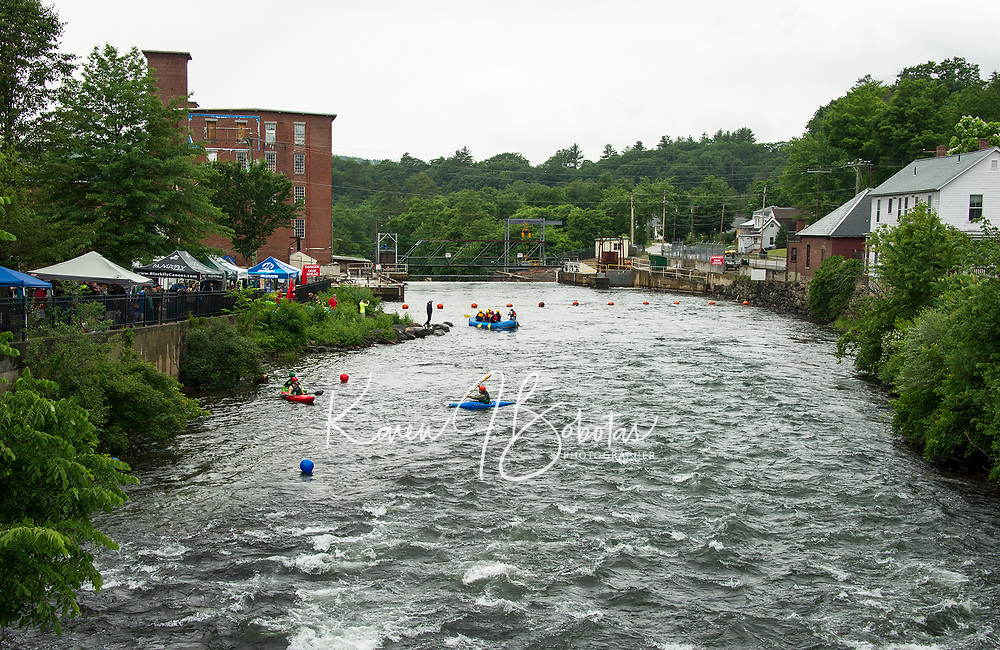 "Whitewater enthusiasts flocked to Trestle View Park for Mill City Park's ""Winni River Days"" on Saturday.  (Karen Bobotas/for the Laconia Daily Sun)"