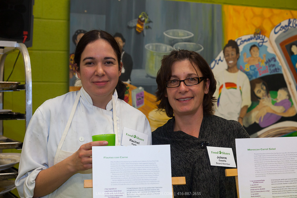 "The launch party of ""share"", FoodShare's 1st cookbook. Nov. 14, 2012"