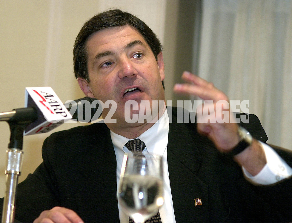State Senator James Gerlach (R-Pa. 6th Congressional District) participates in a Pennsylvania 6th Congressional District candidates forum, sponsored by the AARP, Saturday, October 12, 2002, in Malvern, Pa. The forum is one of nine election forums the AARP is hosting throughout Pennsylvania before election day on November 5th. (Photo by William Thomas Cain/photodx.com)