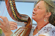 Adirondack Harpist Martha Gallagher in concert at the 2012 Tucson Folk Festival.
