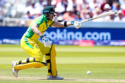Steve Smith of Australia holds his bat up - Mandatory by-line: Robbie Stephenson/JMP - 29/06/2019 - CRICKET - Lords - London, England - New Zealand v Australia - ICC Cricket World Cup 2019 - Group Stage