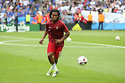 Portugal Midfielder Renato Sanches in warm up during the Euro 2016 final between Portugal and France at Stade de France, Saint-Denis, Paris, France on 10 July 2016. Photo by Phil Duncan.