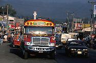 Bus Station, Chimaltenango, Guatemala, Central America