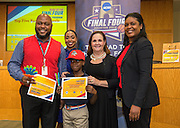 Dogan Elementary School is recognized during the reveal of the 32 finalists in the Houston ISD NCAA Read to the Final Four, November 11, 2015.