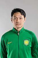 Portrait of Chinese soccer player Yang Zhi of Beijing Sinobo Guoan F.C. for the 2017 Chinese Football Association Super League, in Benahavis, Marbella, Spain, 18 February 2017.