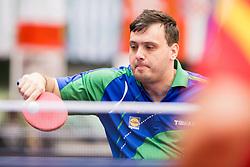 Primoz Kancler of Slovenia at 14th Slovenia Open - Thermana Lasko 2017 Table Tennis for the Disabled Factor 40, on May 7, 2017, in Dvorana Tri Lilije, Lasko, Slovenia. Photo by Urban Urbanc / Sportida
