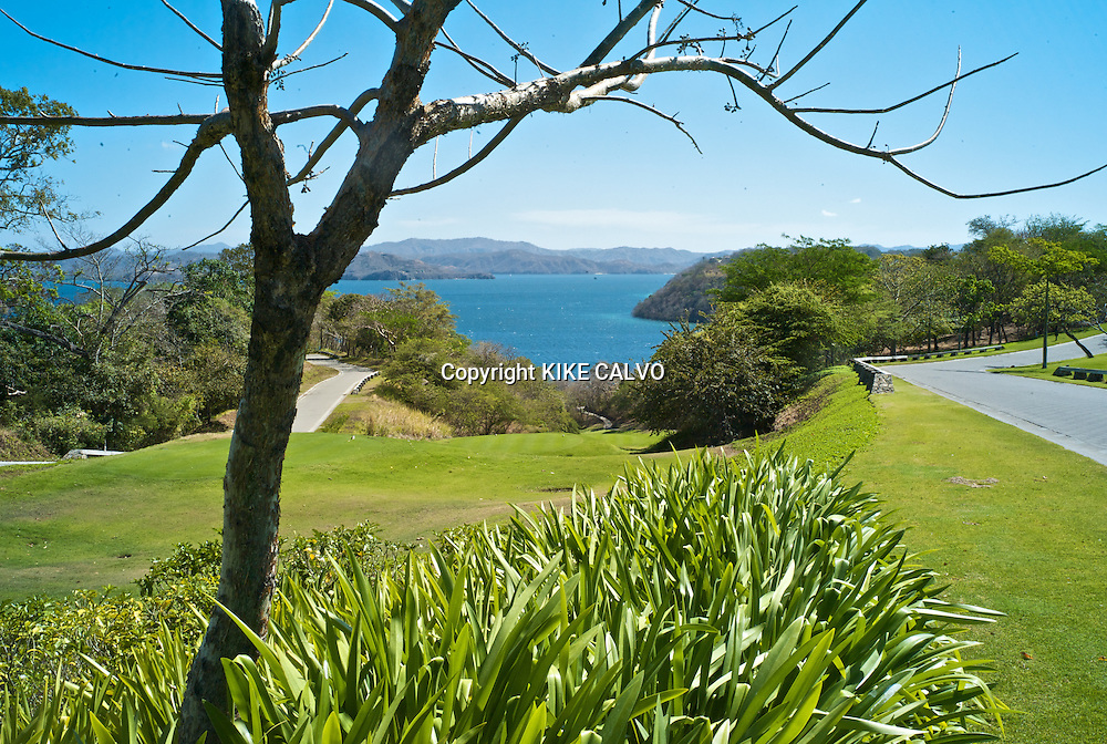 Peninsula Papagayo on Costa Rica's north Pacific Coast.Pictured: Detail of the golf course. B1276
