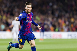 May 6, 2018 - Barcelona, Catalonia, Spain - FC Barcelona forward Lionel Messi (10) celebrates scoring the goal during the match between FC Barcelona v Real Madrid, for the round 36 of the Liga Santander, played at Camp nou  on 6th May 2018 in Barcelona, Spain. (Credit Image: © Urbanandsport/NurPhoto via ZUMA Press)