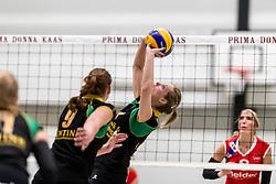 17-03-2018 NED: Prima Donna Kaas Huizen - VC Sneek, Huizen<br /> PDK verliest kansloos met 3-0 van Sneek / Sanne Berculo #4 of PDK Huizen