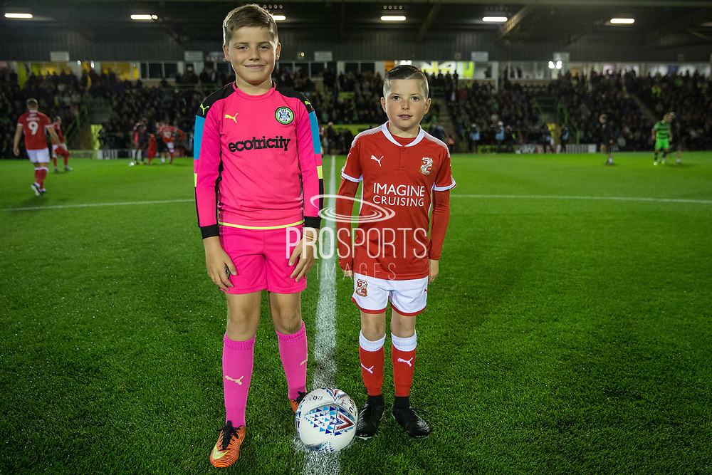 The match day mascots during the EFL Sky Bet League 2 match between Forest Green Rovers and Swindon Town at the New Lawn, Forest Green, United Kingdom on 22 September 2017. Photo by Shane Healey.