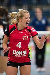 03-12-2014 GER: USC Muenster - SC Potsdam, Munster<br /> Halle Berg Fidel, Muenster Volleyball, DVV-Pokal Frauen, Viertelfinale / Jubel Tess von Piekartz (#4 Muenster)<br /> <br /> <br /> ***NETHERLANDS ONLY***