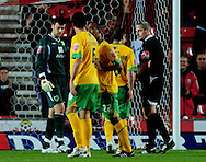 Southampton - Tuesday, September 30th, 2008: Dejan Stefanvoc of Norwich City walks off after being sent off during the Coca Cola Championship match at Southampton. (Pic by Daniel Hambury/Focus Images)