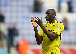 Lucas Akins of Burton Albion applauds the fans at the final whistle - Mandatory by-line: Jack Phillips/JMP - 15/10/2016 - FOOTBALL - DW Stadium - Wigan, England - Wigan Athletic v Burton Albion - EFL Championship