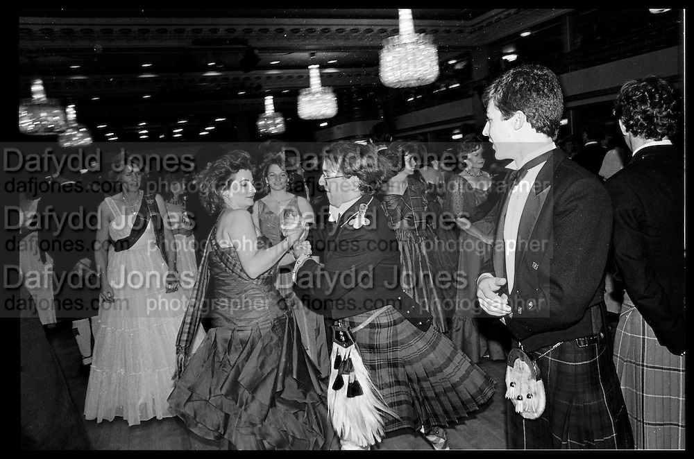 SOPHIE ASHBROOK; VISCOUNT STORMONT, , Royal Caledonian Ball, Grosvenor House, 30 May 1985<br /> <br /> SUPPLIED FOR ONE-TIME USE ONLY> DO NOT ARCHIVE. © Copyright Photograph by Dafydd Jones Whydown Lodge, Sandhurst Lane. Bexhill on Sea. TN39 4RG  www.dafjones.com