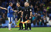 Football - 2017 / 2018 Premier League - Everton vs. Burnley<br /> <br /> Wayne Rooney of Everton complains to the officials after the match at Goodison Park.