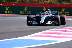 June 22, 2018 - Le Castellet, Var, France - Mercedes 44 Driver LEWIS HAMILTON (GBR) in action during the Formula one French Grand Prix at the Paul Ricard circuit at Le Castellet - France (Credit Image: © Pierre Stevenin via ZUMA Wire)