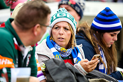 A Leicester Tigers fans wear Leicester City scarf in tribute to Leicester City Chairman Vichai Srivaddhanaprabha - Mandatory by-line: Robbie Stephenson/JMP - 03/11/2018 - RUGBY - Welford Road Stadium - Leicester, England - Leicester Tigers v Worcester Warriors - Gallagher Premiership Rugby
