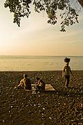 Lovina Beach at sunset