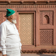 Muslim man at Agra Fort, India