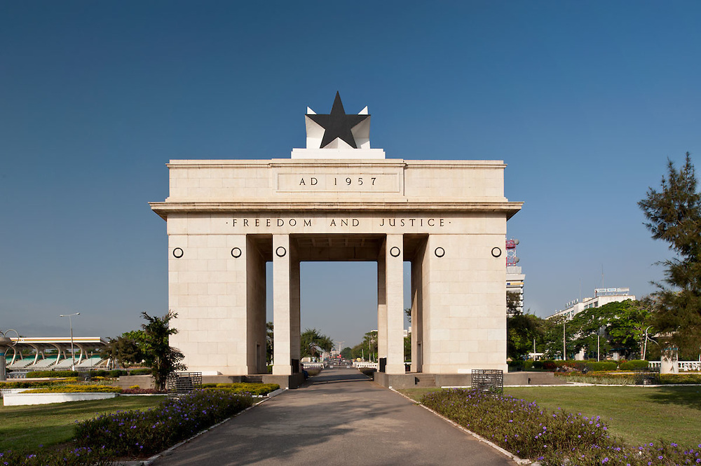 Photo of Independence Arch in Independence Square, Accra, Ghana 2011.