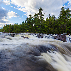 Grand Pitch on the East Branch of the Penobscot River. Next to the International Appalachian Trail east of Baxter State Park in Maine's northern forest.