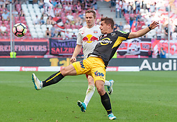 28.05.2017, Red Bull Arena, Salzburg, AUT, 1. FBL, FC Red Bull Salzburg vs Cashpoint SCR Altach, 36. Runde, im Bild Christian Schwegler (FC Red Bull Salzburg), Nikola Dovedan (Altach) // during Austrian Football Bundesliga 36th round Match between FC Red Bull Salzburg and Cashpoint SCR Altach at the Red Bull Arena, Salzburg, Austria on 2017/05/28. EXPA Pictures © 2017, PhotoCredit: EXPA/ JFK