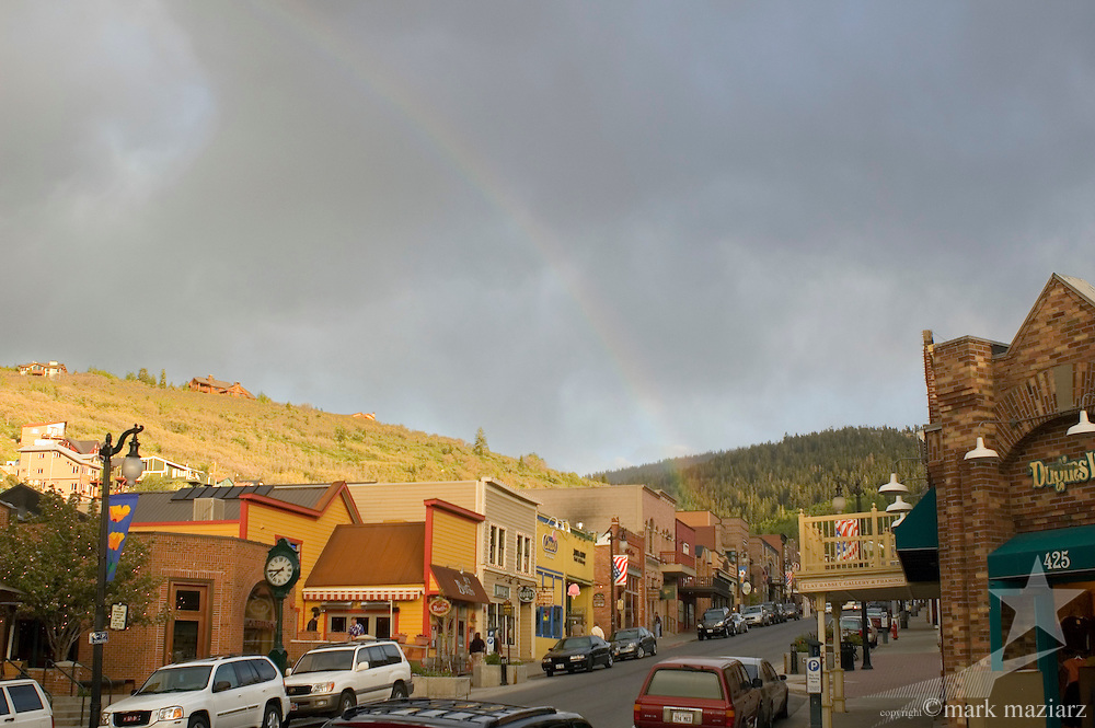 rainbow over Main Street, Park City, UT