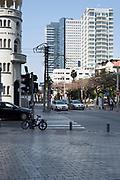 The corner of Allenby street and Rothschild Boulevard, Tel Aviv, Israel