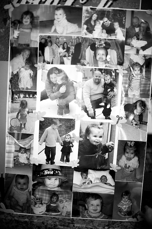 """Parents at a loss...It is said the greatest loss is when a parent loses a child. In the United States, it is expected that nearly 150,000 infants, children, teenagers, and young adults will die this year. Even years after a child's death, parents still struggle to come to grips with what happened. ...A collage of photos of Rylee Andersen with her parents at a fundraiser in her name. Rylee was diagnosed with mitochondrial disease in May 2009 and died less than a year later. """"Time stopped. Time stopped that day,"""" Janet Congero, Rylee's mother said."""
