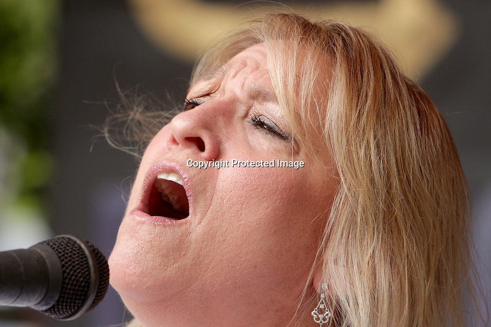 Terri Shindel performs Sunday July 27, 2014 during the All-Day Blues Jam at The Rusty Nail in Wilmington, N.C. The event was part of the 19th Annual Cape Fear Blues Festival. (Jason A. Frizzelle)