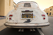 Rust never sleeps for this little gem, Image of a rusty old 1952 pre-A 356 Porsche in southern California, America west coast