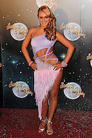 LONDON - SEPTEMBER 11: Aliona Vilani attended the Strictly Come Dancing Launch at the BBC Television Centre, London, UK. September 11, 2012. (Photo by Richard Goldschmidt)