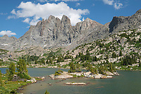 Mount Bonneville and Little Bonneville Lake. Bridger Wilderness, Wind River Range Wyoming