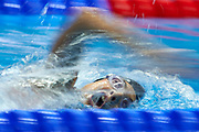 Ashgabat, Turkmenistan - 2017 September 24: Dania Nour from Palestine competes in Women's 200m Freestyle Heat 1 while Short Course Swimming competition during 2017 Ashgabat 5th Asian Indoor &amp; Martial Arts Games at Aquatics Centre (AQC) at Ashgabat Olympic Complex on September 24, 2017 in Ashgabat, Turkmenistan.<br /> <br /> Photo by &copy; Adam Nurkiewicz / Laurel Photo Services