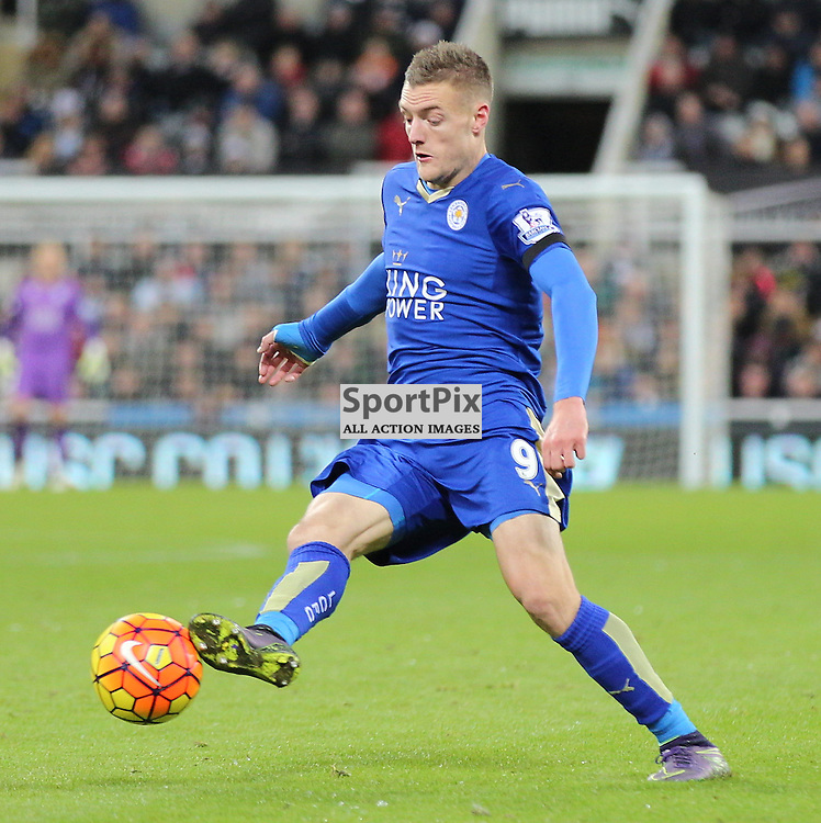 Newcastle United v Leicester City English Premiership 21 November 2015; Jamie Vardy (Leicester City, 9) during the Newcastle v Leicester City English Premiership match played at St. James' Park, Newcastle; <br /> <br /> &copy; Chris McCluskie | SportPix.org.uk
